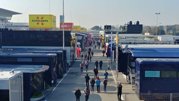 Paddock del Circuit de Barcelona-Catalunya