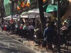 Seguidores del Celtic en Valencia