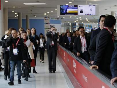 Participantes en la edición 2018 del congreso de móviles de Barcelona.
