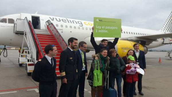 El aeropuerto de Granada recibe su pasajero un millón