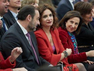 Los Ministros del Gobierno de Sánchez en la presentación de 'Manual de Resistencia'