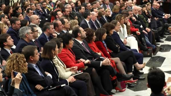 Lleno 'ministerial' en el acto