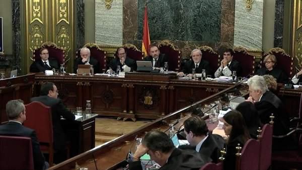 Josep Rull , en el juicio del 'procés'