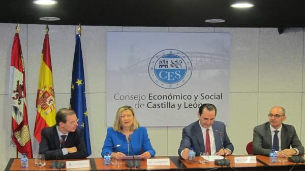 Del Olmo y Álvarez presentan el balance de ADE  Financia en el CES