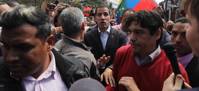 Juan Guaidó en Caracas