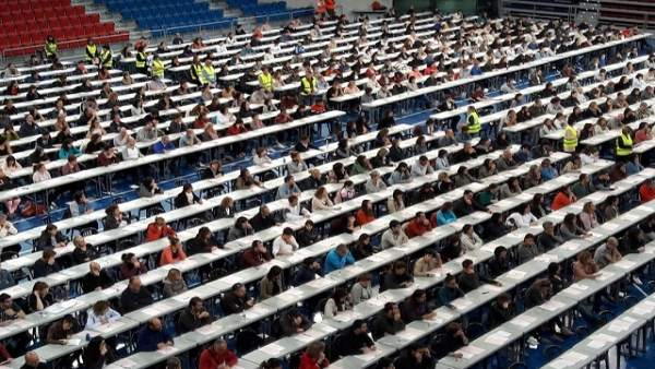 Más de 500 personas se presentan este sábado en Vitoria al segundo ejercicio de