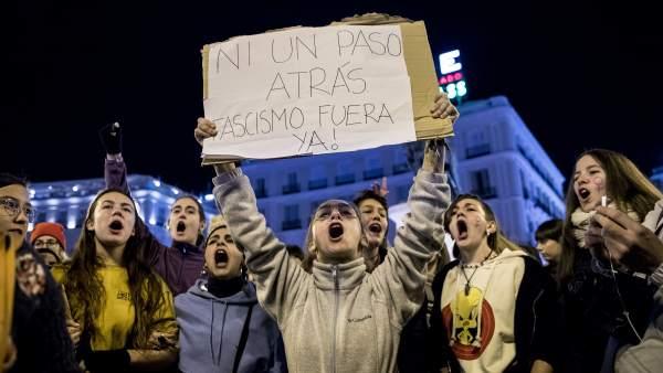 Manifestación feminista contra Vox