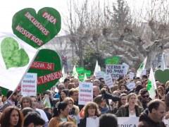Manifestación por la educación especial