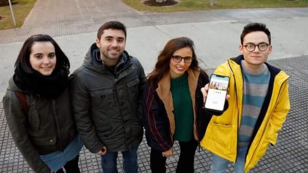 Cuatro estudiantes de la UPNA diseñan una aplicación sobre lugares para practica