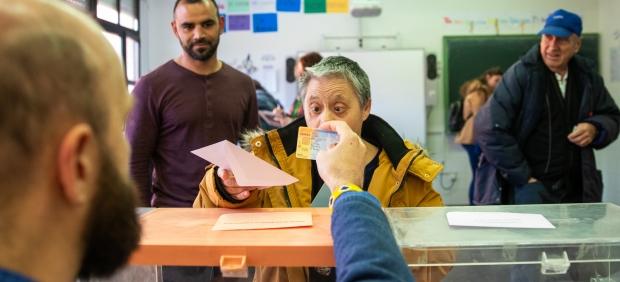 Con discapacidad y votando