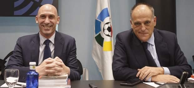 Luis Rubiales y Javier Tebas