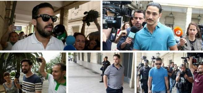 La Manada llega a los juzgados de Sevilla
