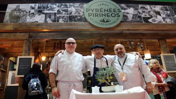 Productos y cocineros aragoneses participan por primera vez en el Salón Internac