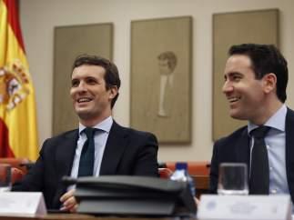 Pablo Casado y Teodoro García Egea.