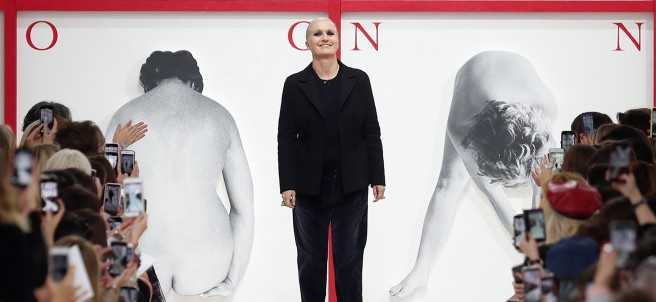 La diseñadora italiana Maria Grazia Chiuri