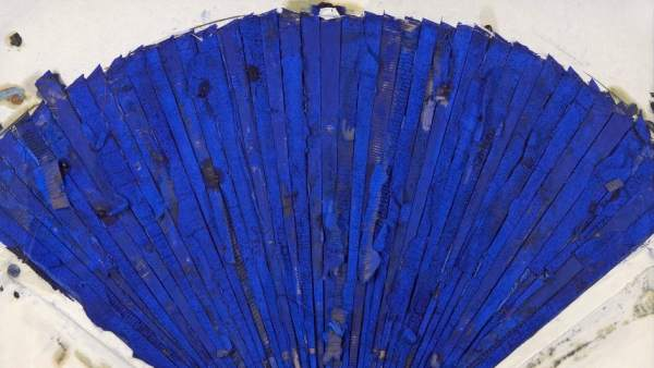 Manolo Valdés. Abanico azul, 2007. Galería Benlliure
