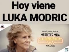 Mercedes Milá en la Resistencia como Luka Modric