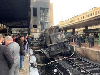 Accidente de tren en El Cairo
