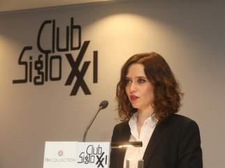 La portavoz del PP, Isabel Díaz Díaz Ayuso.