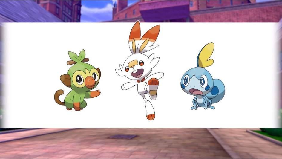 Primeros pokémon de la octava generación