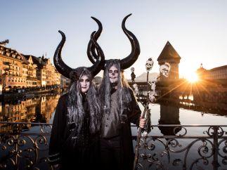 Carnaval al atardecer, en Lucerna