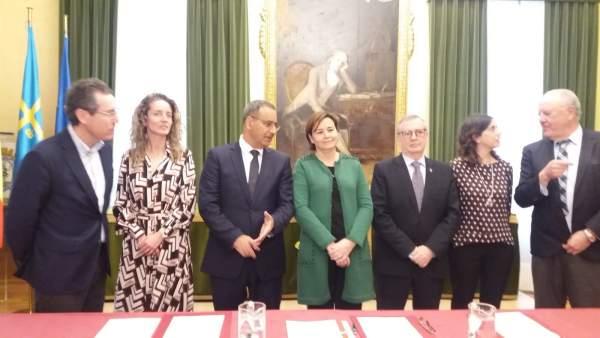 Gijón.- La firma de cesión de terrenos da el pistoletazo de salida a que Cabueñe