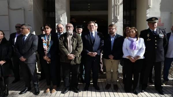 Concentración de repulsa en Alicante por el crimen de Planes