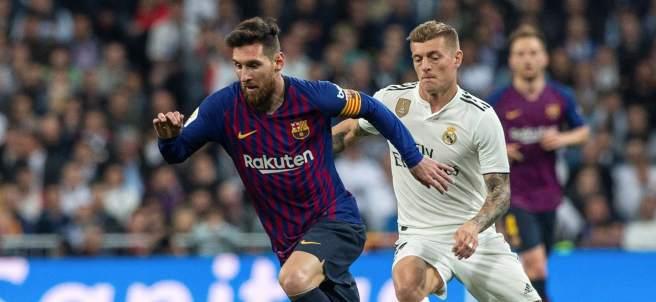 Toni Kroos y Leo Messi