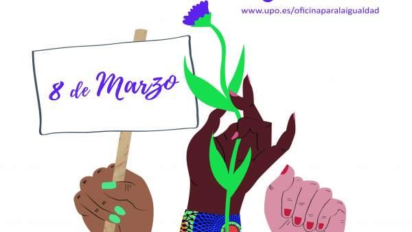 Cartel de la campaña de la UPO por el 8M