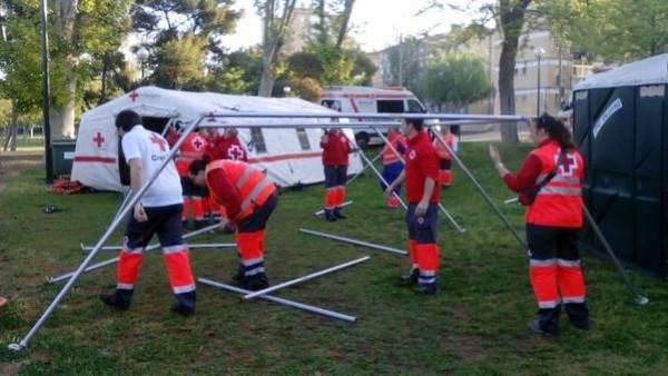 Más de 50 voluntarios de Cruz Roja colaborarán en la Cincomarzada en el parque T