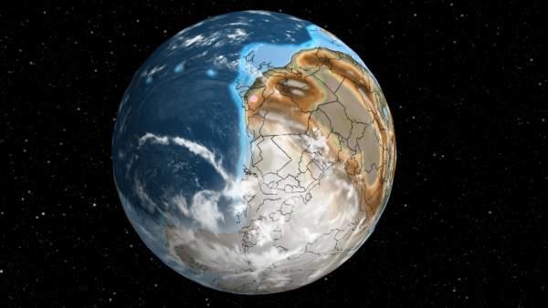 Imagen del mapa interactivo de la herramienta 'Ancient Earth'.