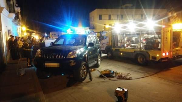Bomberos intervienen en el rescate de un varón en Arcos