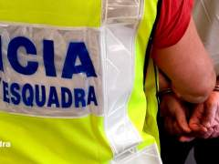 Una detención de los Mossos d'Esquadra.