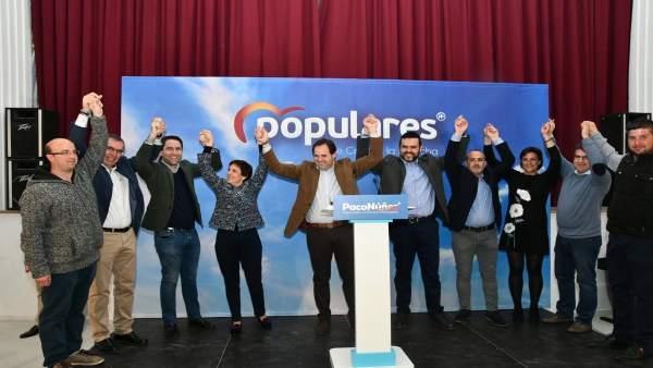 Núñez con García Egea en la presentación de candidatos