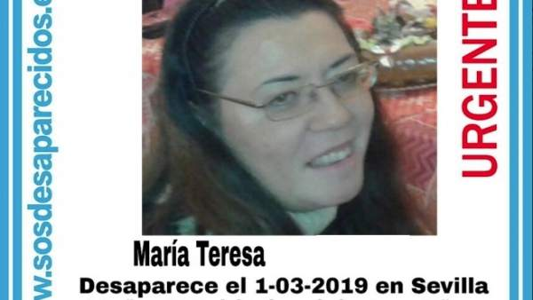 Sevilla.- Sucesos.- Denuncian la desaparición de una mujer de 49 años