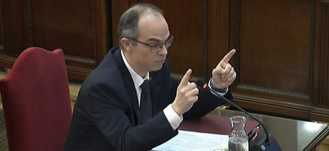 Imagen de archivo del interrogatorio a Jordi Turull en el juicio por el 'procés'.