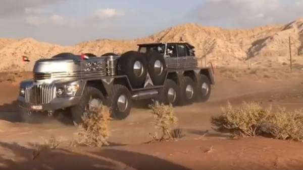 El SUV de 10 ruedas diseñado para el jeque de Abu Dhabi