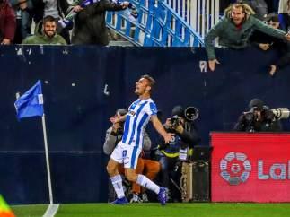 Óscar marca el gol de la victoria del Leganés ante el Levante