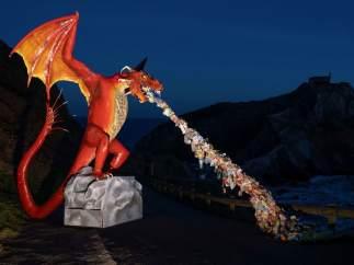 El dragón gigante de Greenpeace