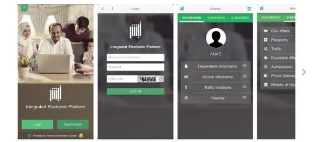 Absher, una 'app' de Arabia Saudí