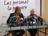 La candidata de Podemos en Ávila, en su comparecencia