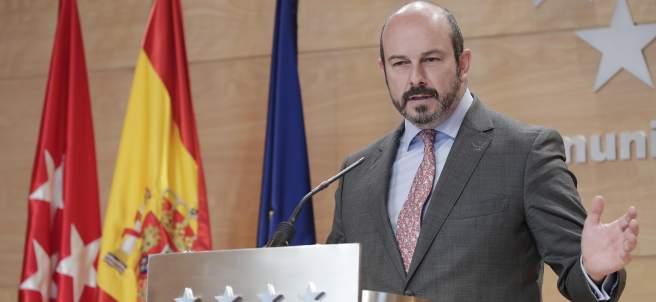 El vicepresidente regional, Pedro Rollán, este martes.