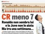 """""""CR menos 7"""", titula la Gazzetta"""