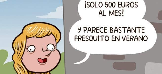 'El abuso del alquiler', viñeta de Álvaro Terán