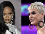 las cantantes Rihanna y Katy Perry