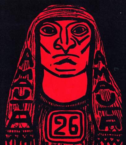 José Sabogal. Portada de la revista Amauta, n. 26. Septiembre - octubre, 1929. Museo de Arte de Lima.