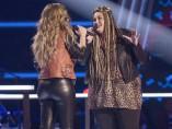 Miriam canta con una concursante de 'La Voz'