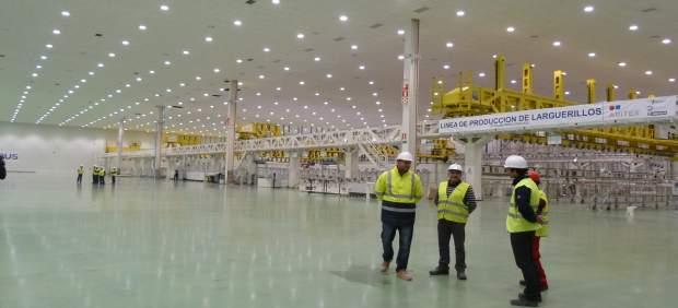 Operarios planta Airbus Illescas