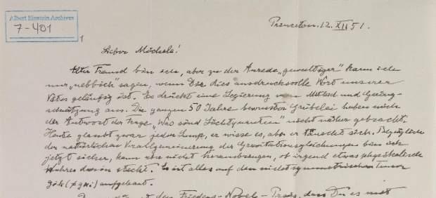 Manuscritos de Einstein desconocidos revelados por la Universidad Hebrea.