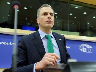 Ortega Smith, en el Parlamento Europeo